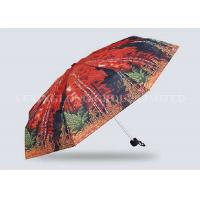 Quality Red Mini Parasol Pocket Size Umbrella , Five Fold Umbrella Strong Aluminum Frame for sale