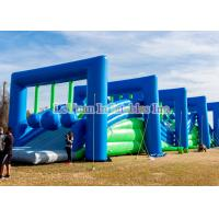 China Plato PVC Vinyl Insane Inflatable 5k Obstacle Course For Challenge Run on sale