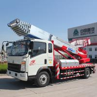 Quality Euro 2 Double Cabin Aerial Work Platform Truck 8-20m Work Height 160hp ZZ1324N3325S for sale