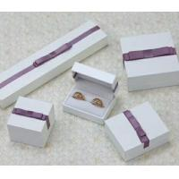 Quality Velvet Or Leather Inside Paper Jewelry Boxes For Pierced Earrings / Pendant for sale