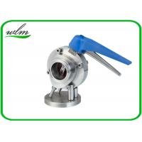 Quality Leakage Proof Sanitary Butterfly Valve Manual Or Pneumatic Type , Corrosion Resistance for sale