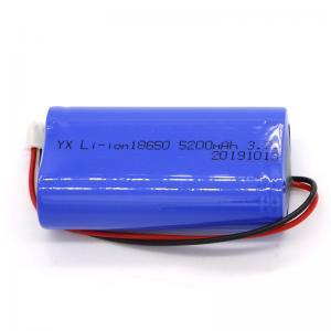 Quality Rechargeable CC CV MSDS 5200mAh Li Ion 3.7 V Battery for sale