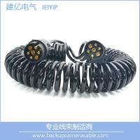 Buy cheap High Quality Black 7 Pin Spiral Cable Extension Trailer electric coil Cable from wholesalers