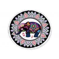 Buy cheap Original India Thai Roundie Elephant Beach Towel Multi Color Printed from wholesalers