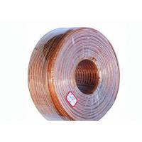Quality Copper Litz Wire Loudspeaker Cable , Transparent Sheath PVC Insulated Cables for sale