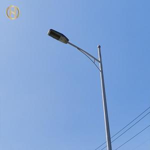 Quality Q345B Q235B Steel 12M Double Arm Street Lamp Post for sale