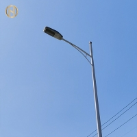 Buy cheap Q345B Q235B Steel 12M Double Arm Street Lamp Post from wholesalers