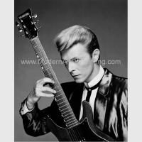 Quality Hand Painted Custom Portrait Oil from Photo, Black and White Music People Art for sale