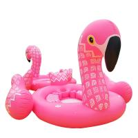 Quality 0.47mm PVC Printing Inflatable Flamingo Pool Float , Pink Flamingo Pool Toy for sale