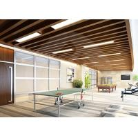 Quality Decorative PVC Ceiling Panels / ECO Wood Environmentally Friendly Soundproof for sale