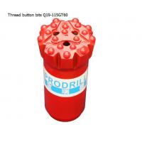 GT60 15 buttons 115mm tungsten carbide hard rock drilling thread button bits for mining