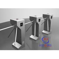 China Vertical security Tripod Turnstile Gate , Drop Arm Turnstile Access smart card reader on sale