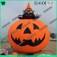 Quality 3M Party Inflatable Pumpkin / Halloween Inflatables With Smiling Face for sale