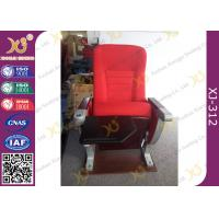 Quality University Furniture Floor Mounted Top Aluminum Base Conference Hall Chairs With Painted Back for sale
