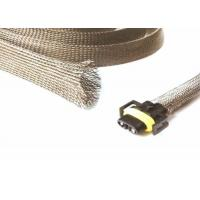 Quality Halogen Free Tinned Copper Braided Sleeving For Wire Shielding Protection for sale