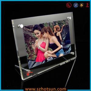 Quality acrylic photo strip frames/ acrylic photo frames 4x6 for sale