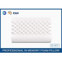 China Ventilated Wave Memory Foam Neck Massaging Pillow With Velvet Breathable Cover on sale