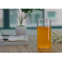 Quality Straight Cylinder 355ml Borosilicate Single Wall Glass Cup Drinkware for sale