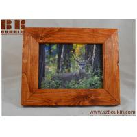 China Red Cedar stain Picture wood frame Pick stain color  4x6 frame 5x7 frame 8x10 frame on sale