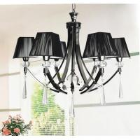 Quality Elegance European style black shade Crystal Pendant Lights & Chandeliers with 6-light for sale