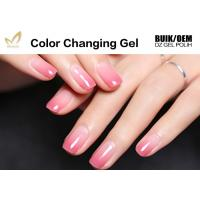 Quality 15ml Lacquer Soak Off Mood Changing Gel Nail Polish With Remover Liquid for sale