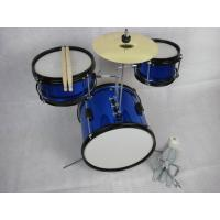 Quality Blue 3 Piece Acoustic Kids Drum Set Sound Percussion Drum Set MU-3KS for sale
