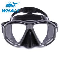 Quality Durable Liquid Silicone Diving Mask Low Volume Design Tempered Glass Lens Wide View for sale