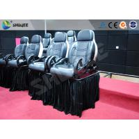 Quality Luxury Mobile Motion Theater Chair 5D / 7D / 9D With Air And Water Spray for sale