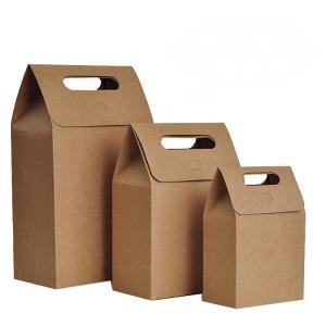 Buy cheap Die Cut Personalized Brown Paper Bags High Tear Resistance Windowed Handle from wholesalers