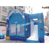 Quality Blue Outdoor Inflatable Bouncer Slide Commercial With Castles for sale