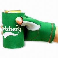 Quality Glove Can Cooler with Flat Lock or Blind Stitching, Made of 2.5 to 4.5mm SBR + Double Polyester for sale