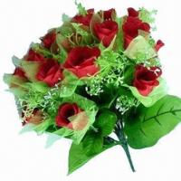 China 2012 New Arrival Artificial/Wedding Rose/Bridal Flowers, Made of Silk on sale