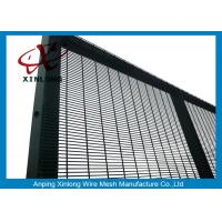 Buy cheap Anti-Climb Jail 358 High Security Chain Link Fence Electric Galvanized Pure White from wholesalers