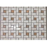Quality Spain Crema Marfil Marble Mosaic Tile For Wall Decoration Beige Color 305*305mm for sale