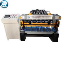 Buy cheap high speed Trapezoidal roofing sheet roll forming machine with motor cutting device from wholesalers