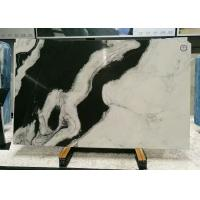 Quality Book Matched Marble Stone Floor Tiles , Smooth Black And White Marble Tile for sale
