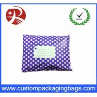 Quality Purple White Polka Dot Printed Post Plastic Mailing Bags Inflatable Packaging for sale