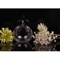Quality Borosilicate Glass Hanging Tealight Candle Holders ASTM Passed for sale