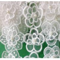 Quality Garment Accessories Embroidery Organza Applique Flower  with Sequin for sale