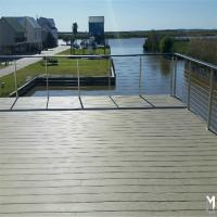 Quality Galvanized steel deck railing with 4mm wire rope design for sale