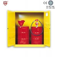 Quality Steel Hazardous Chemical Drum Corrosive Storage Cabinet 3-point self-latching For Flammable Liquids for sale