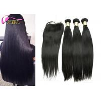 Buy Long Silky Straight Peruvian Human Hair Weave With Closure For Black Women at wholesale prices