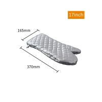 Quality Bakest Factory Price Silver Coated Fireproof Baking Microwave Cotton Cheap Custom Oven Mitts for sale