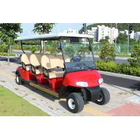 Quality 4 Wheel Custom Color 6 Passenger Golf Electric Cart Powered By Lead Acid Batteries for sale