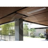 Quality Modern Strip Ceiling Panel WPC ECO Composite Wood For Indoor Decoration for sale