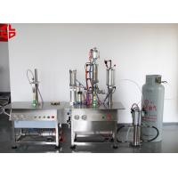 Quality Bag On Valve Aerosol Filling and Crimping Machine Semi Automatic High Speed for sale