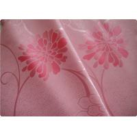 """Quality Beautiful Pink Flower Polyester Elastane Fabric Cloth 57"""" / 58"""" Width for sale"""