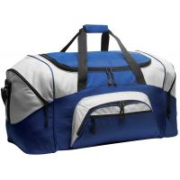Quality 600D Polyester Personalized Sports Duffle Bags Blue Color H32.4cm X W69.2cm X D34.3cm for sale