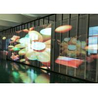 Transparent Video Glass Screen Side luminous Display SMD3512  P15.6 For Supermarket