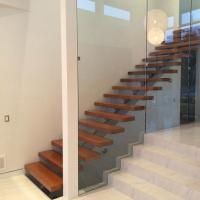 Quality Australia Design Mono Stringer Staircase Beautiful Straight Custom Size Staircase with Colorable Tread for sale